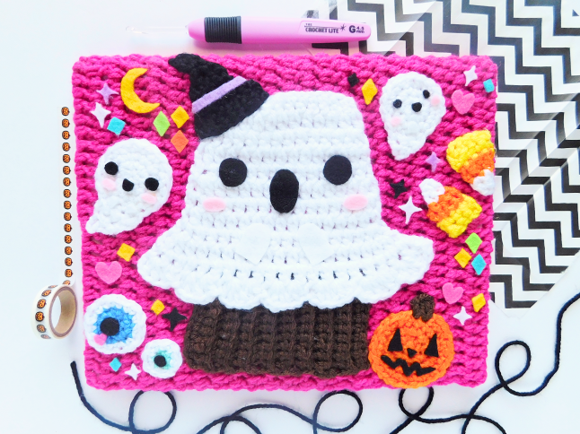 Spoopy Ghost Crochet Canvas