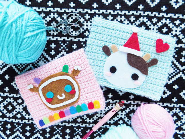 Crocheted Christmas Cards