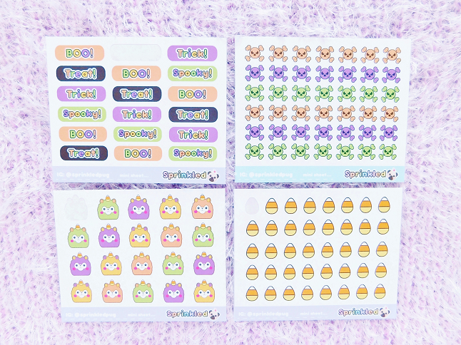 Sprinkle Pug Halloween Stickers