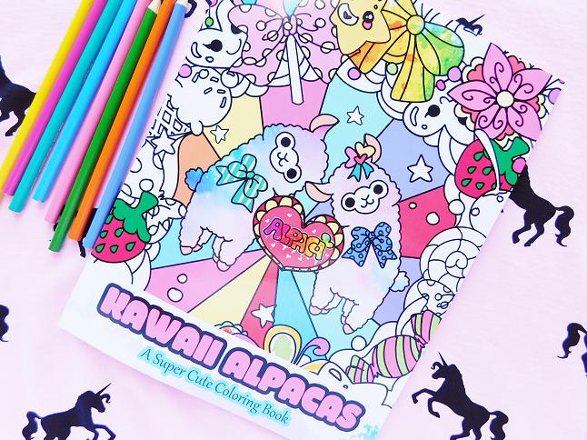 Kawaii Alpacas Coloring Book Flip Through