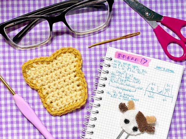 Mini Bread Slice Crochet Pattern