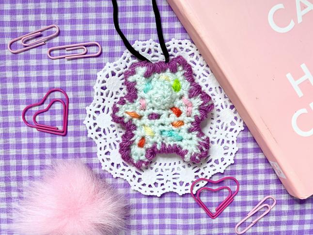 Pastel Bear Necklace