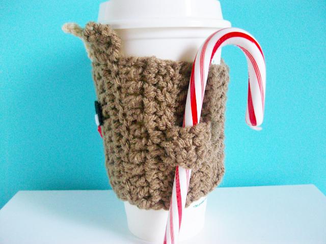Reindeer Coffee Cozy Crochet Pattern