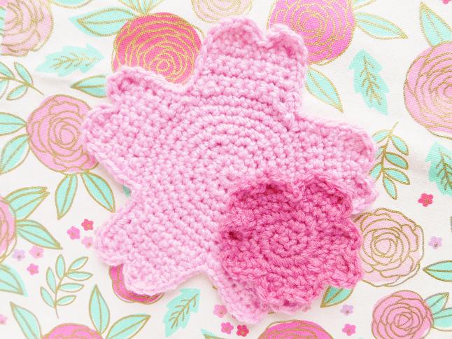 Sakura Coaster Crochet Pattern