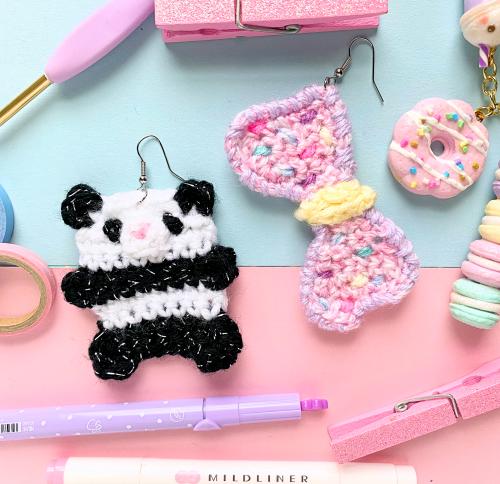 Panda Bow Earrings