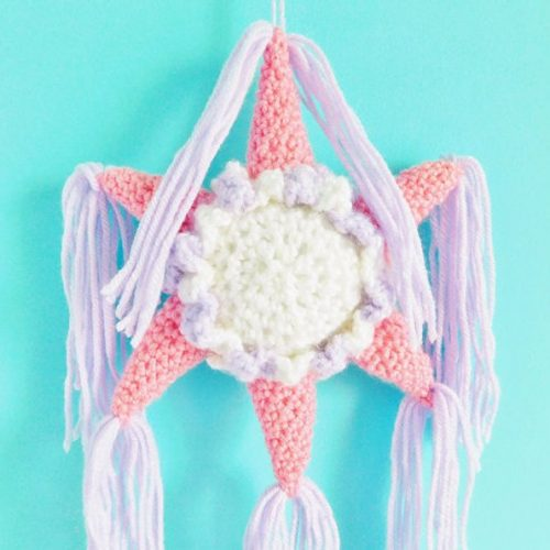 Piñata Star Crochet Decor Piece