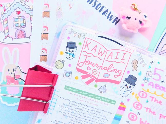 Kawaii Journaling Holiday Challenge